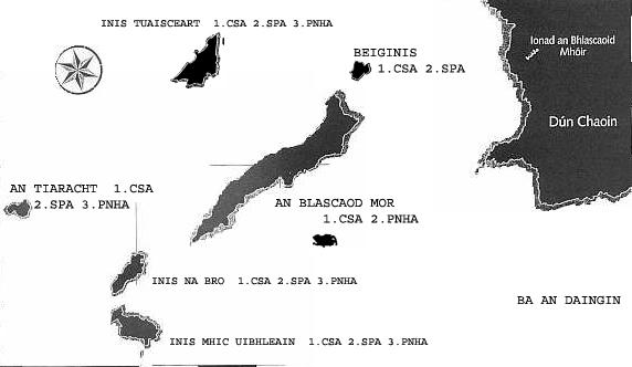 Blasket Islands Map